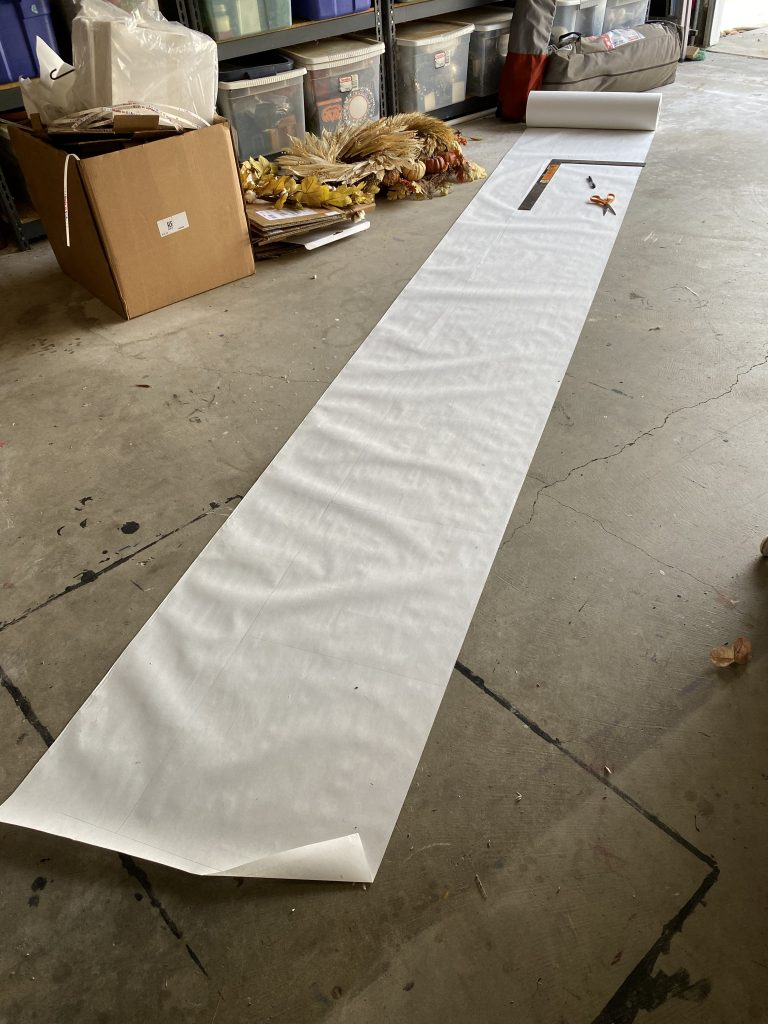 big roll of white paper and its uses