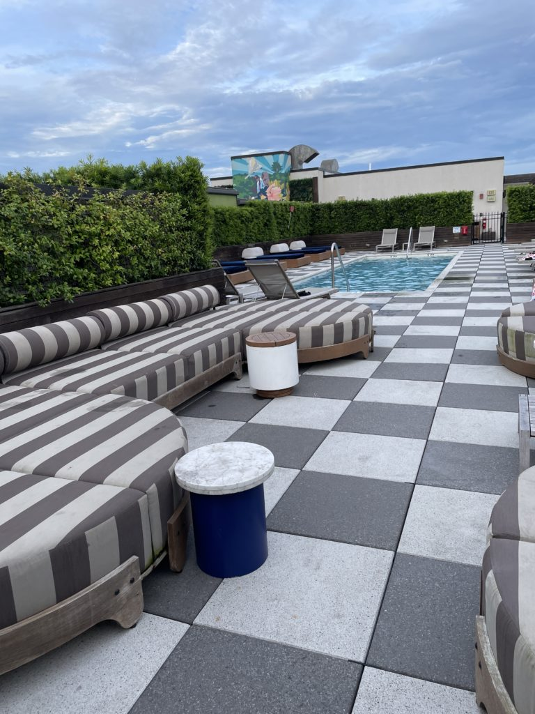 best boutique hotel in savannah georgia rooftop bar and pool perry lane hotel