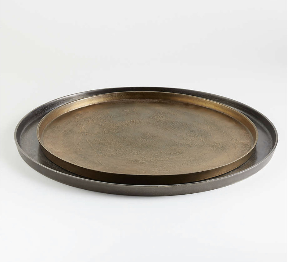 crate and barrel fall decor metal trays say hello to fall with these new decor finds fall in love with fall decor in your home for fall decorating