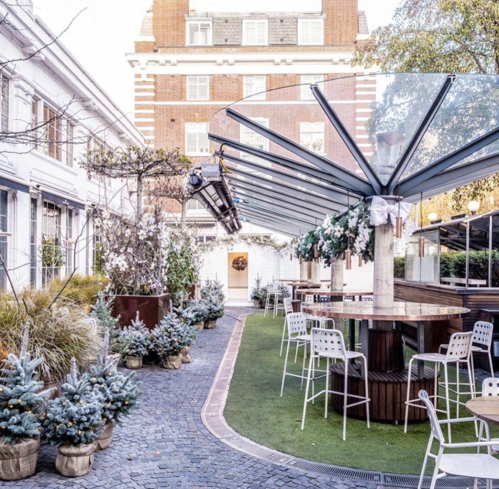 bluebird cafe where to eat in london at christmas time