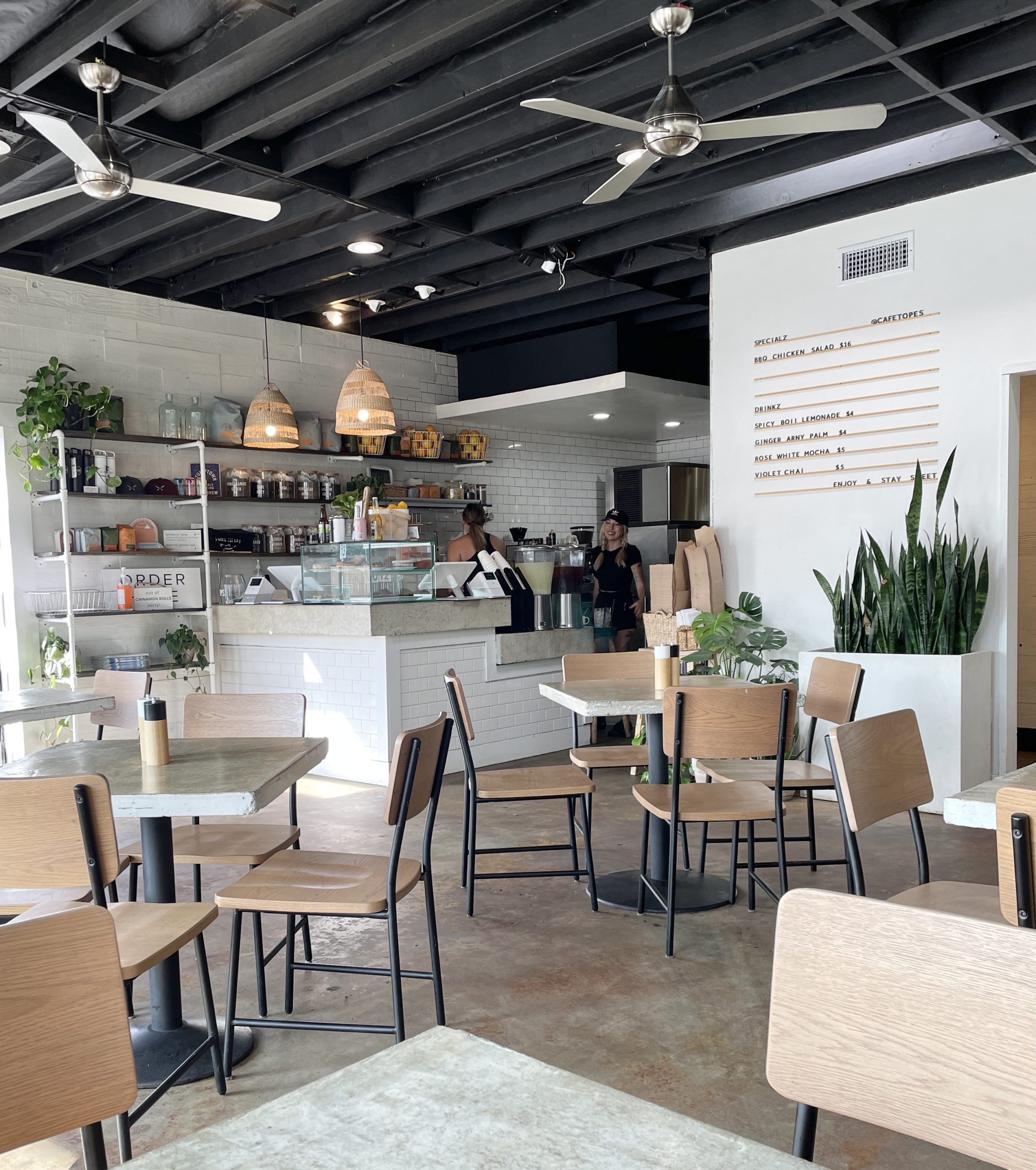 cafe topes best restaurants in san diego county interior view