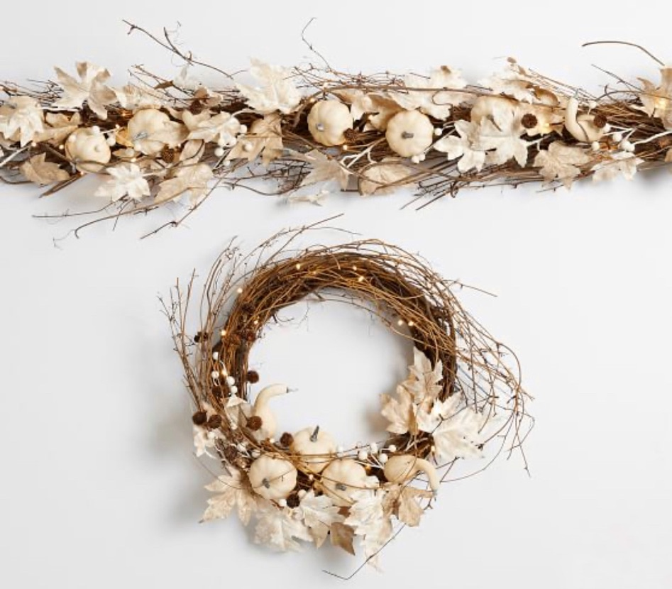 pottery barn fall wreath say hello to fall with these new decor finds fall in love with fall decor in your home for fall decorating